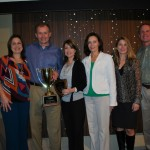 "Middle Tennessee Pharmacy Services (Shelbyville, TN) received the 2012 Guardian ""Pharmacy of the Year"" award. (L-R) Jennifer Ester, Russ Spivey, Sherri Nix, Renee Hill, Leigh Hamilton, Gordon Kelly. Not pictured: David Brown, Curt Bicknell"