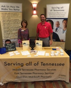 Sherry Nix (Sales and Account Manager at MTPS and ETPS) and Ben Clark (Sales and Marketing Manager at Guardian Pharmacy Mid-South) at the Tennessee Alliance for Children and Families 12th Annual Education and Leadership Conference