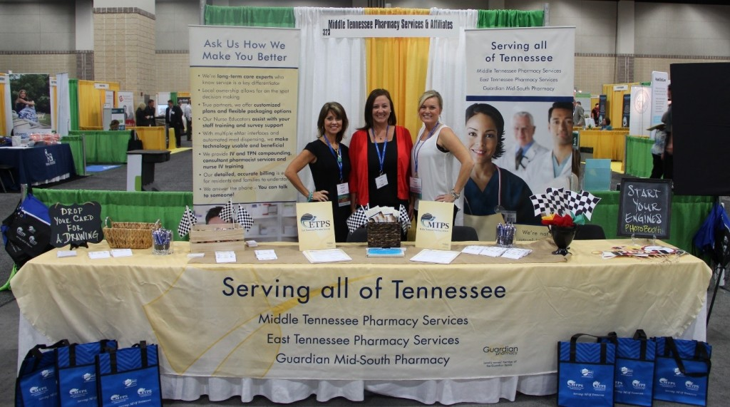 From left to right: Sherry Nix (Sales/Acct. Manager for (MTPS & ETPS), Kelly Hansel (Nurse Educator/Acct Manager for ETPS), and Tisha Hayes (Account Manager for MTPS)